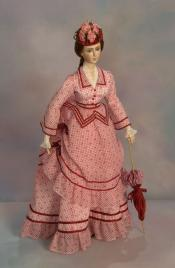 Click to enlarge image  - Lady Marion - 1870 Summer Visiting Dress and Parasols