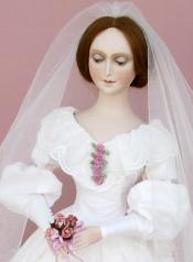 Click to enlarge image  - Lady Kathryn - 1840 Dress with Fitted Corsage