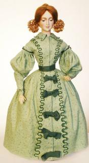 Click to enlarge image  - Lady Kathryn Mold Set - 1830's French Fashion Dress with Hat