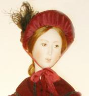 Click to enlarge image  - Lady Marion Mold Set - 1850 Winter Dress with Fitted Coat, Hat & Muff