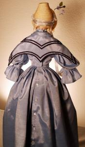 Click to enlarge image  - Lady Kathryn Mold Set - Silk Taffeta Dress with Cape and Bonnet