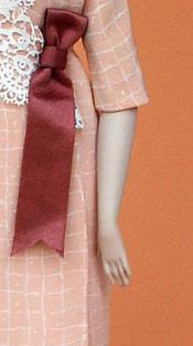 Click to enlarge image  - Lady Marion 17 inch Mold Set - 1912 Wrap-around Dress of Silk