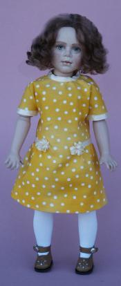 Click to enlarge image  - 11 1/2 inch  BJ Kenderick  Head Mold - 1920's Girl's Dress