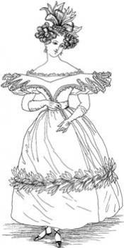 Click to enlarge image 1830s French Fashion-Dress for Dancing - Pattern 89