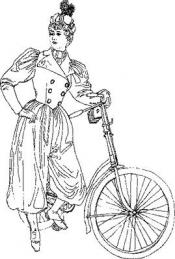 Click to enlarge image 1894 Bicycle Dress with Spats - Pattern 93
