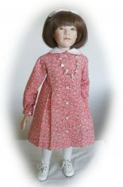 Click to enlarge image 1940's School Dress that fits American Girl Dolls - Pattern 104