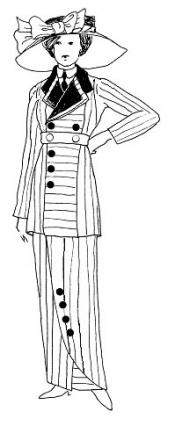 Click to enlarge image 1912 Boarding Suit - Pattern # 97