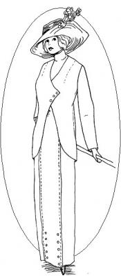 Click to enlarge image 1912 Traveling Suit - Pattern # 107