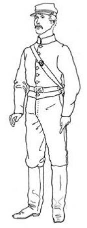Click to enlarge image Civil War Uniform with Shell Jacket - Pattern 81
