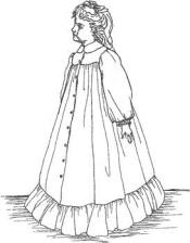 Click to enlarge image Morning Robe & Gown that fits American Girl Dolls - Pattern 58