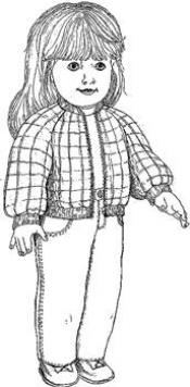 Click to enlarge image Jacket, Jean and T-Shirt that fits American Girl Dolls - Pattern 46