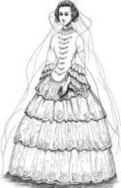 Click to enlarge image 1853 Grandmother's Wedding Dress - Pattern 36