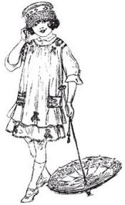 Click to enlarge image 1910 Girl's Dress with Apron - Pattern 100
