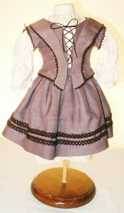 Click to enlarge image 1854 Dress with Laced Bodice that fits American Girl Dolls - Pattern 53