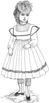 Click to enlarge image 1864 Dress with Guimpe that fits American Girl Dolls - Pattern 59